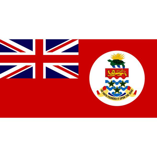 Red Cayman Islands 5' x 8' Nylon Flag