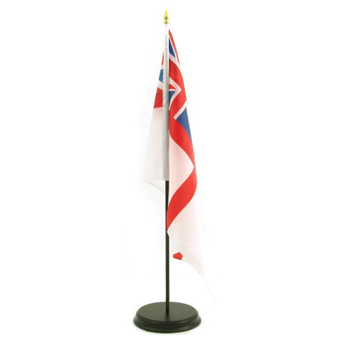 Black Wooden 12-Inch x 18-Inch Flag Base and Stick