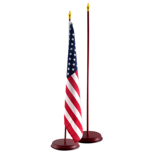 Cherry Wood 12-Inch x 18-Inch Flag Base and Stick