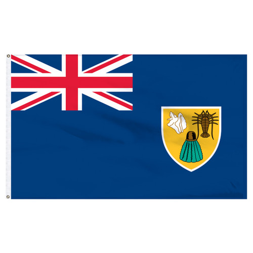 Turks and Caicos 5ft x 8ft Nylon Flag