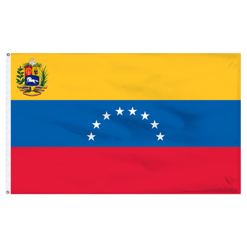 Venezuela 5' x 8' Nylon Flag With Seal