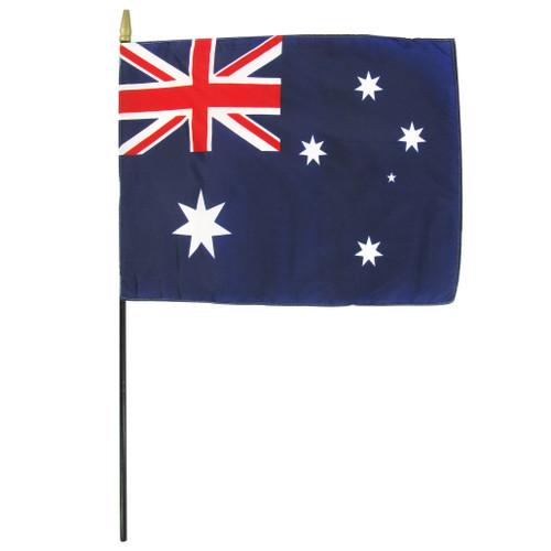 """Australia 8"""" x 12"""" Stick Flag"""