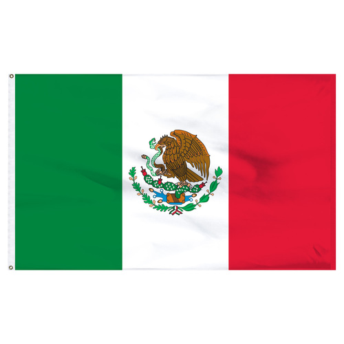 "Mexico 12"" x 18"" Nylon Flag"