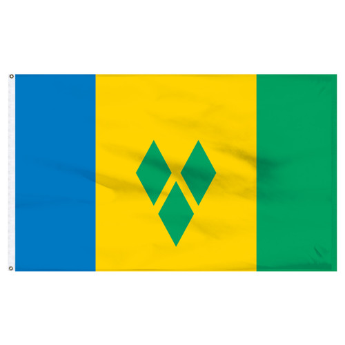 """St. Vincent and The Grenadines 12"""" x 18"""" Nylon Flag"""