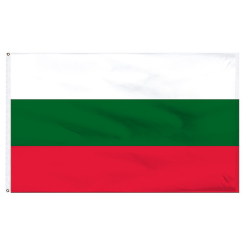 Bulgaria 6' x 10'  Nylon Flag