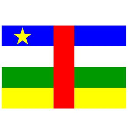 Central African Rep 6' x 10' Nylon Flag