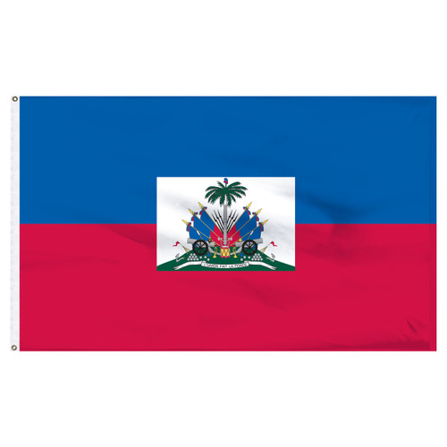 Haiti 6' x 10' Nylon Flag With Seal