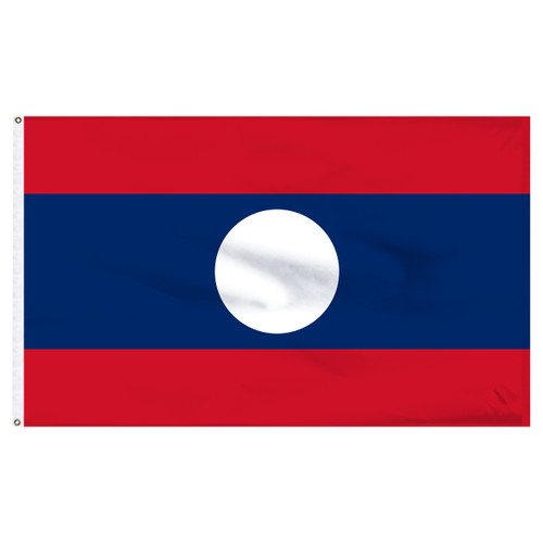 Laos 6' x 10' Nylon Flag