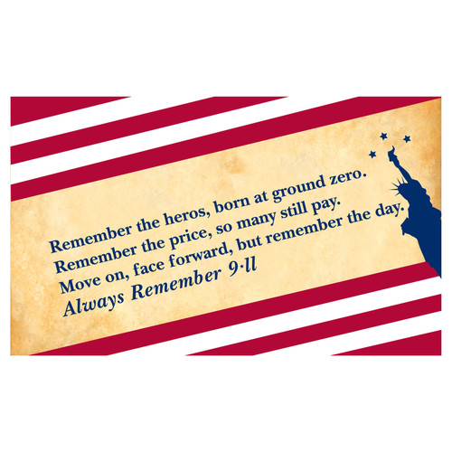 911 Flag 3ft x 5ft Nylon - Always Remember
