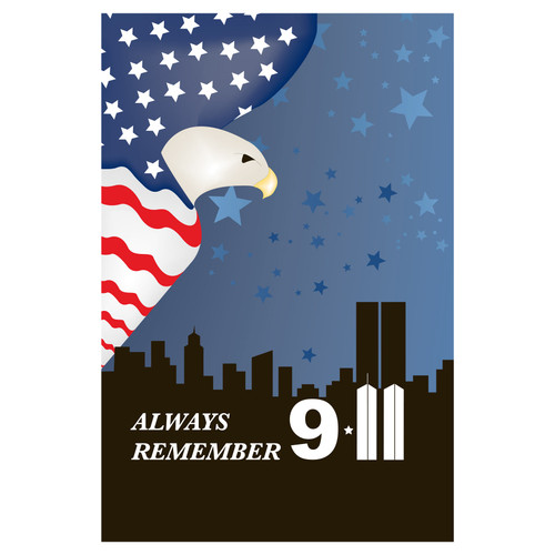 9 11 Remembrance Flag - Garden