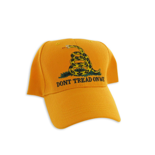 Dont Tread On Me Gadsden Flag Embroidered Yellow Baseball Cap