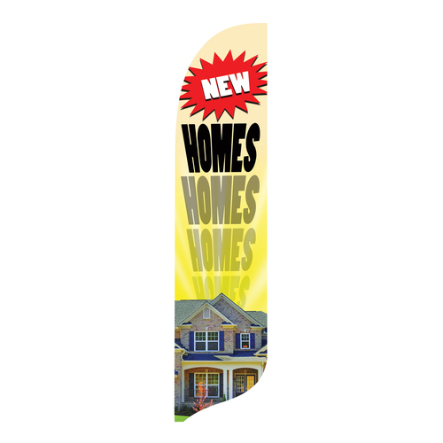 Outdoor Advertising Blade Flag - New Homes