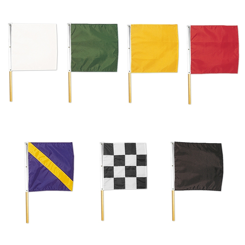 Set of 7 Nylon Racing Flags on Dowels