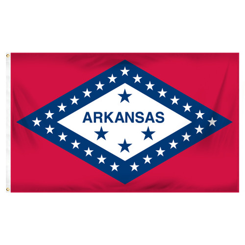 Arkansas Flag 5ft. x 8ft. Spun Heavy Duty Polyester Flag