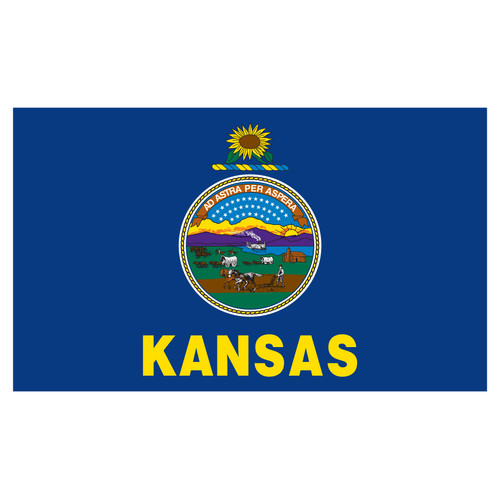 Kansas 4ft x 6ft Spun Heavy Duty Polyester Flag