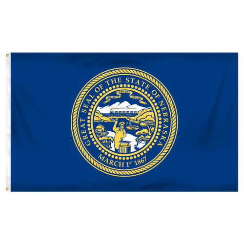 Nebraska 5ft x 8ft Spun Heavy Duty Polyester Flag