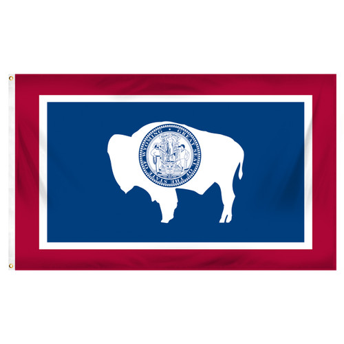 Wyoming 5ft x 8ft Spun Heavy Duty Polyester Flag