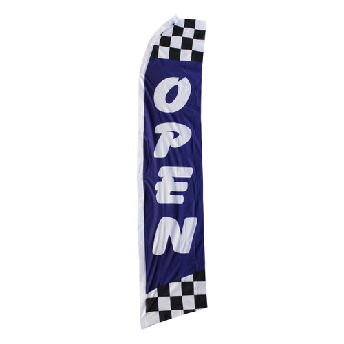 Open Swooper Flag - Blue Checkered