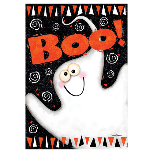 Halloween Banner Flag - Boo Ghost