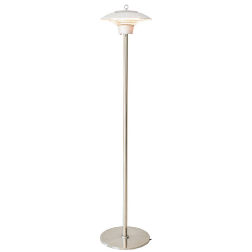 Electric Halogen Infrared Stand Heat Lamp, Silver