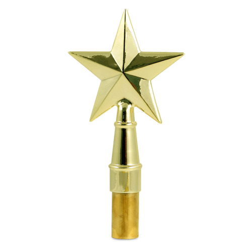 Gold Texas Star Flagpole Topper