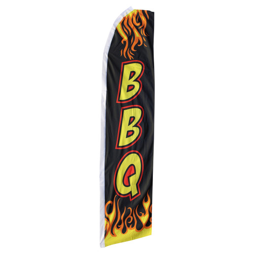 BBQ Swooper Flag - Black