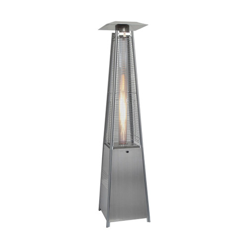 7-Ft. 42,000 BTU Pyramid Propane Patio Heater in Stainless Steel