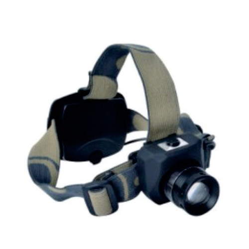 Rugged Blue 3W LED Military Zoomable Headlamp - 60 Lumens