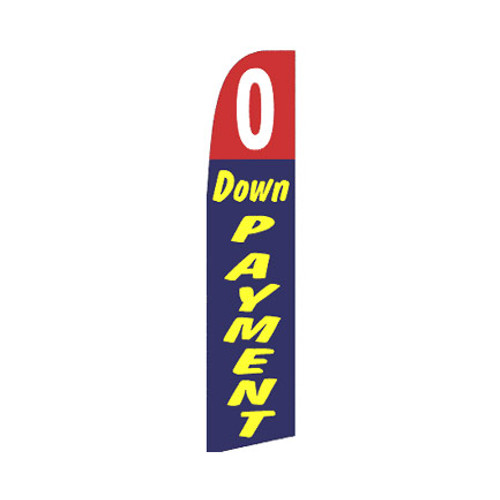 0 Down Payment Swooper Flag - Red & Blue