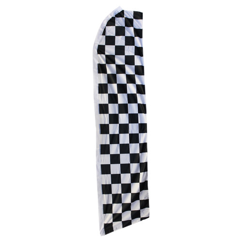 Black & White Checkered Swooper Flag
