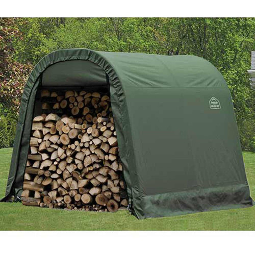 ShelterLogic 8' x 8' x 8' RoundTop Green Storage Shelter