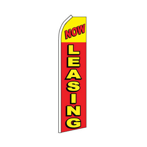 Now Leasing Swooper Flag - Red & Yellow
