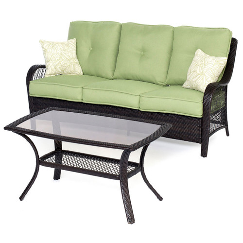 Orleans 2-Piece Patio Set in Avocado Green