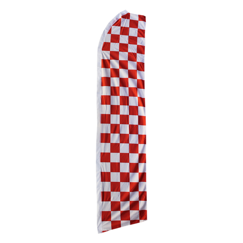 Red and White Checkered Swooper Flag