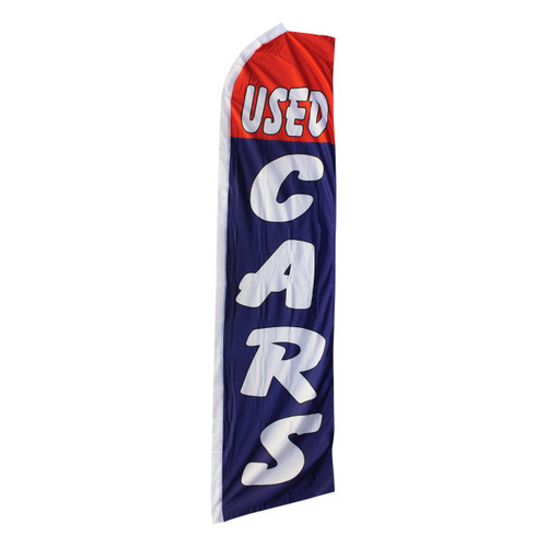 Used Cars Swooper Flag - Red & Blue
