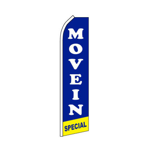 Move In Special Swooper Flag - Blue