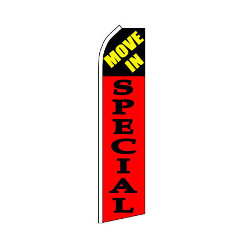 Move In Special Swooper Flag - Red