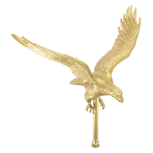 Outdoor Gold Flagpole Eagle - 12in Tall with 11.25in Wingspan