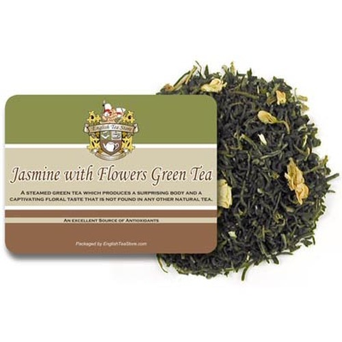 Jasmine with Flowers Green Tea - Loose Leaf Bulk - 5LB