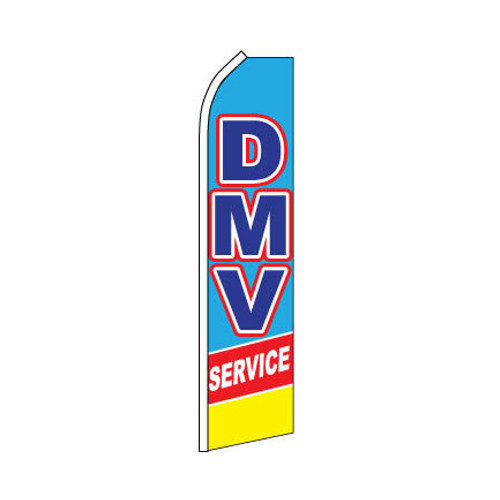 DMV Service Swooper Flag - Yellow