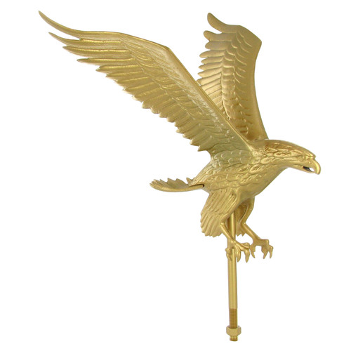 Outdoor Gold Flagpole Eagle - 18in Tall with 15in Wingspan