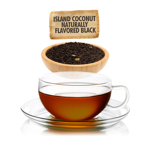 Island Coconut Flavored Black Tea - Loose Leaf - Sampler Size - 1oz