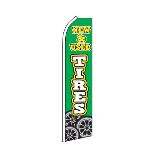 New & Used Tires Swooper Flag