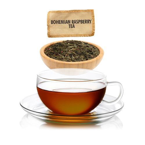 Bohemian Raspberry Green Tea - Loose Leaf - Sampler Size - 1oz