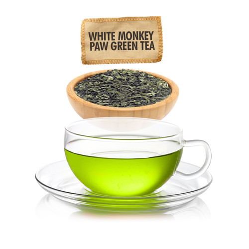 White Monkey Paw Green Tea  - Loose Leaf - Sampler Size - 1oz