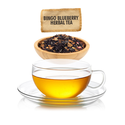 Bingo Blueberry Herbal Tea - Loose Leaf - Sampler Size - 1oz