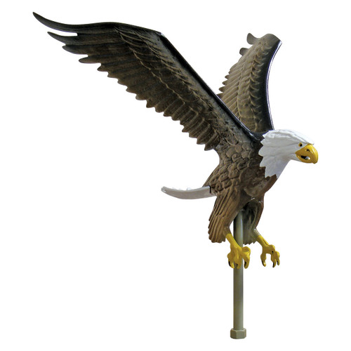 Outdoor Natural Flagpole Eagle - 18in Tall with 15in Wingspan