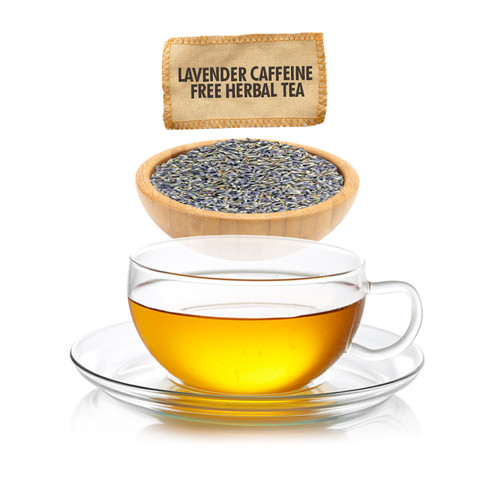 Caffeine Free Lavender Herbal Tea  - Loose Leaf - Sampler Size - 1oz