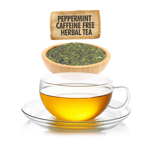 Caffeine Free Peppermint Herbal Tea - Loose Leaf - Sampler Size - 1oz