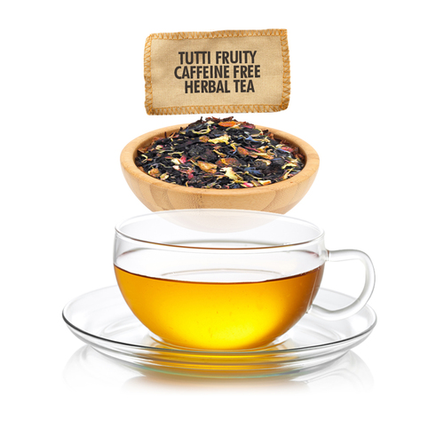 Caffeine Free Tutti Fruiti Herbal Tea for Kids - Loose Leaf - Sampler Size - 1oz